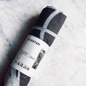 IKEA SVARTAN Limited Editio abstract print fabric